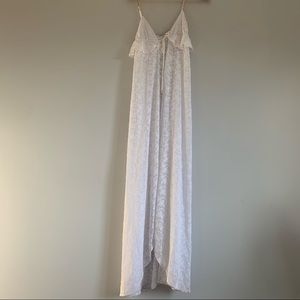 Wildfox swim white all embroidered lace long cover